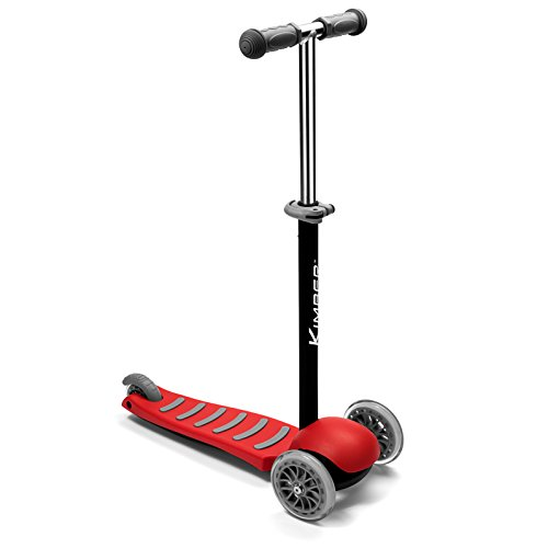 Kimber Verve by PlaSmart Inc. - 3-Wheel Junior Kick Scooter, Red, Ages 3 to 5 yrs