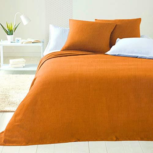 Byour3 - Colcha para cama de matrimonio, de algodón, para cama individual de plaza y media, para primavera y verano, de nueva generación, tela decorativa multiusos para cubrir el sofá o el foulard