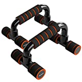 READAEER Push Up Bars Gym Exercise Equipment Fitness 1 Pair Pushup Handles with Cushioned Foam Grip and Non-Slip Sturdy Structure Push Up Bars for Men & Women (Orange)