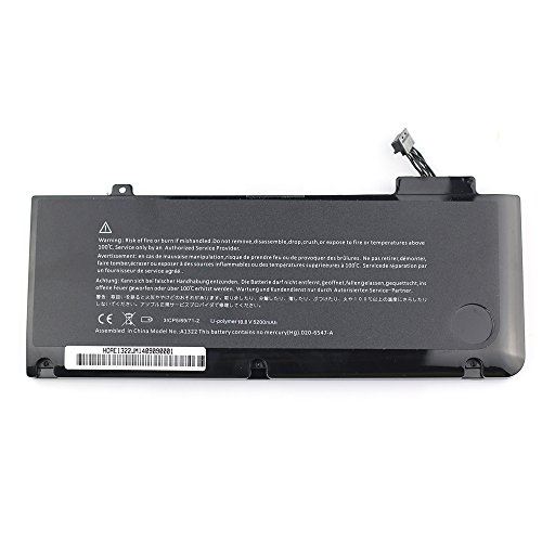Notebook Laptop Batterie Akku A1322 fur Apple MacBook Pro 13 Unibody A1278Mid 2009 2010 2011 2012 Version MC375DA MB990CHA MB990JA MB991LLA MB990TAA