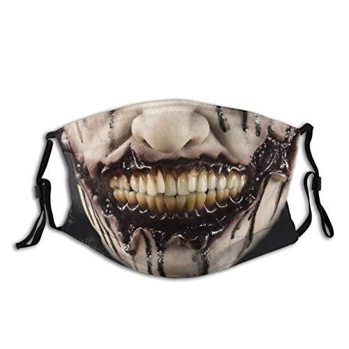 Scary Clown Cloth Face Mask With Filter Pocket Washable Face Bandanas Balaclava Reusable Fabric Mask With 2 Pcs Filters