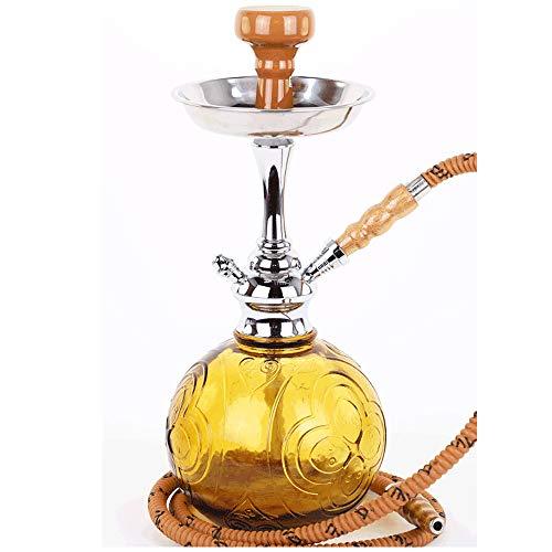 MYA Shisha Mini Tango - 41 cm - Edle Wasserpfeife - Amber 1-Schlauch Hookah