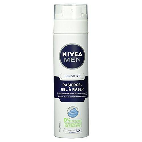 NIVEA Men, Rasiergel für Männer, 200 ml Spender, Sensitive, 0% Alkohol