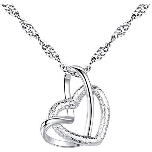 Dorical Damen 925 Sterling Silber 3A Zirkonia Halskette Frauen Halskette Beliebte Schmuck dchen Geschenk Promo (One Size, R)