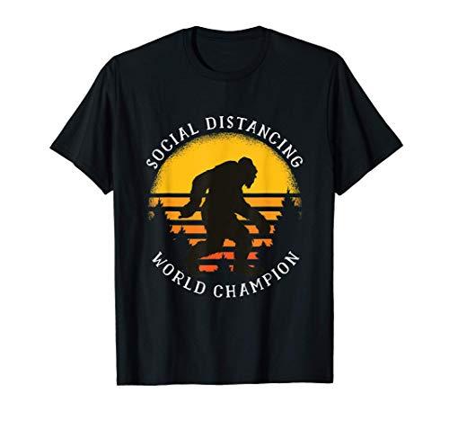 Regalo Big Foot Del Campeón Mundial De Social Distancing Camiseta