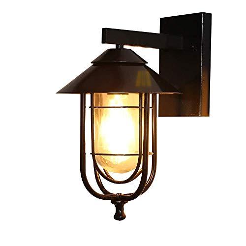 Lámpara de Pared Para Exteriores luz impermeable al aire libre de América sencilla, creativa luz del jardín de viento industrial, salón exterior dormitorio de la lámpara de pared de la escalera pasill