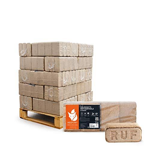 PALIGO Holzbriketts Ruf Hartholz Buche Eiche Kamin Ofen Brenn Holz Heiz Brikett 10kg x 30 Gebinde 300kg / 1 Palette Heizfuxx