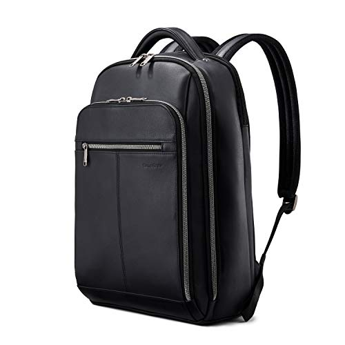 Samsonite Classic Leather Backpack, Black, One Size
