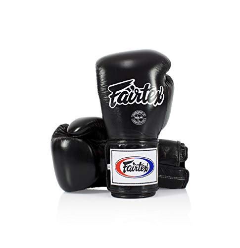 Fairtex - Guantoni da boxe in pelle Super Sparring (BGV5), colore: Nero