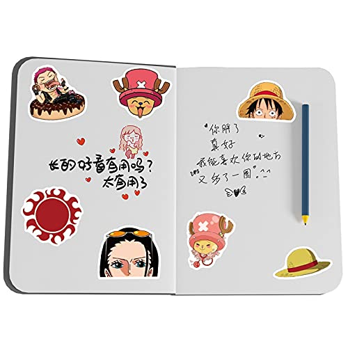 MBGM 50 unids Un Anime Pegatinas Pieza Dibujos Animados Día Hombre Carretera Mosca Sombrero De Paja Misión Papelería Agua Copa Cuaderno Impermeable Decoración Manual Etiqueta