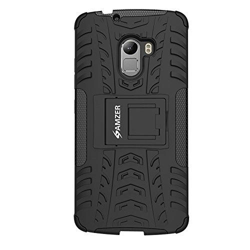 Amzer Hybrid Warrior Cover Case for Lenovo K4 Note A7010 - Black