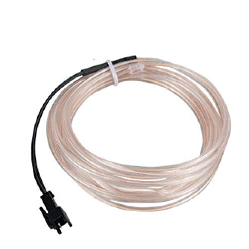 5m Neon Light EL Wire 10 colores LED Strip Light con controlador para coche Dance Party Bike Decoración Iluminación Blanco