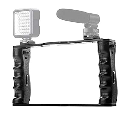 KobraTech Camera Rig - The UltraGrip Pro Smartphone Video Rig for Video Recording & Single Grip Handle by KobraTech