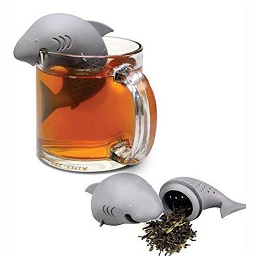 Filtro da tè, Colino da tè a Foglia Sciolta a Forma di Squalo Carino, Bustina di tè Riutilizzabile, Infusore da tè in Silicone per Uso Alimentare, Filtro da tè in Gomma ad Alta Resistenza