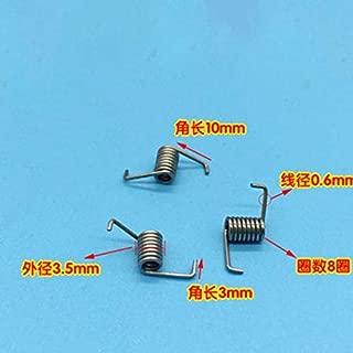 Jienie Wire Dia 0.6mm OD 3.5mm Springs Miniature Torsion Spring 10PCS - (Length: 0.6x3.5x10mm)