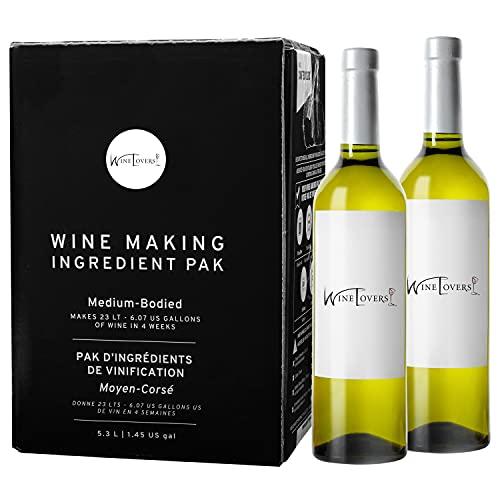Wine Lovers Premium DIY Wine Making Kits, Makes Up to 30 Bottles/6 Gallons of Wine - Pinot Grigio