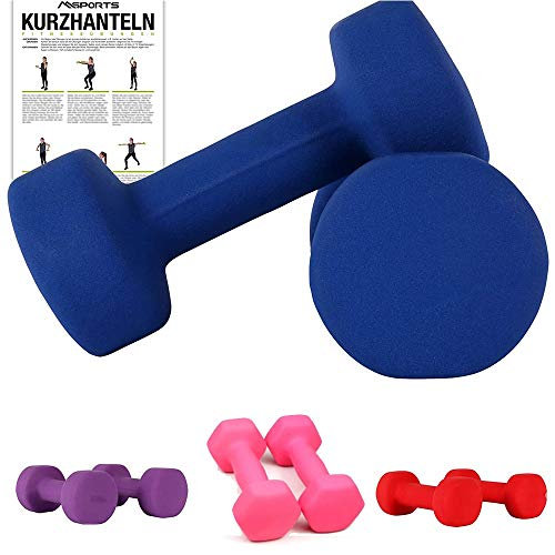 Dumbbells 2kg,3kg,4kg Dumbell Set for Women and Men Small Hand Weights Set for Bodybuilding Fitness Weight Lifting Training Home Gym EquipmentBlue-2kg