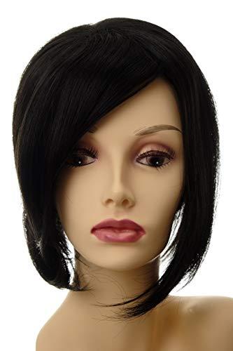 WIG ME UP ® - Postiche long et volumineux extension remplacement cheveux clip-in env. 30 cm noir L056-2