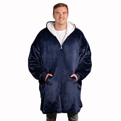The Big Softy Oversize Hoodie Decke | Kuschelpullover | Sherpa Decken Pullover | Riesen Deckenpullover | Comfy Oversized Sweatshirt Blanket | Damen | Herren