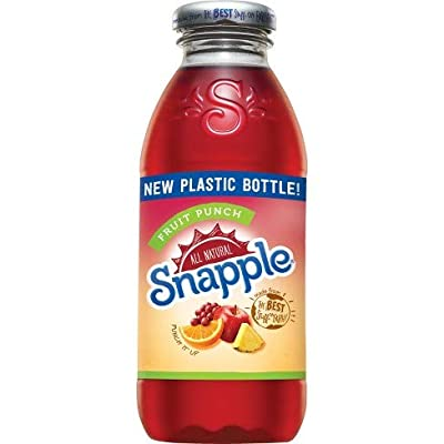 Snapple All Natural Fruit Flavored Teas and Juices, 16 oz Plastic Bottles (Fruit Punch, Pack of 6)