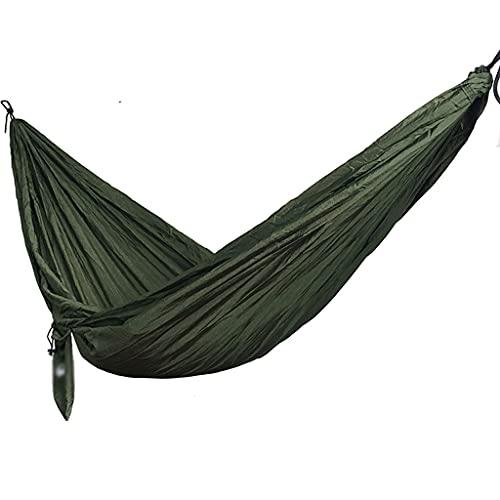 Hamaca De Camping Hamacas Portátiles Individuales Hamacas De Paracaídas De Nailon Ligero para Viajes De Mochilero Playa (Color : Green A, Size : 300kg)