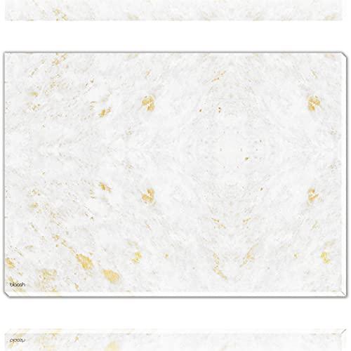 blaash Vade de escritorio de papel DIN A2 para adultos, bloc de 25 hojas con mucho espacio para notas, tareas, bocetos y dibujos, moderno escritorio de escritorio, papel de mármol dorado