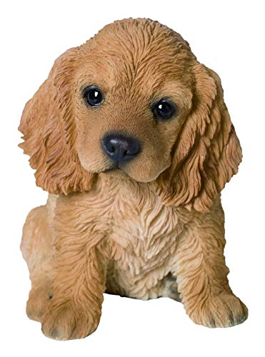 M.E.G Cards & Gifts Vivid Arts – Pet Pals Golden Cocker Spaniel Cucciolo Decorazione casa o Giardino (PP-COSP-F)