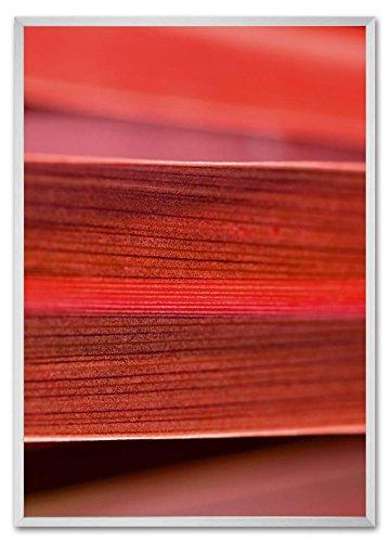 Sigel GA306 Cornice a profilo profondo bold gallery, 70 x 100 cm, alluminio, argento