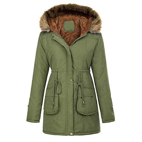 U/A Winter Street - Ropa acolchada de algodón con capucha para mujer