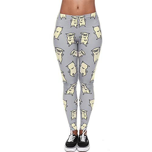 YJKGPZQLZ Yoga Leggings Impresión Bailarinas con Estampado Gris Leggings de Mujer Fitness Transpiración Transpirable Leggins de Secado rápido Pantalones de pantalón de Alta Elasticidad