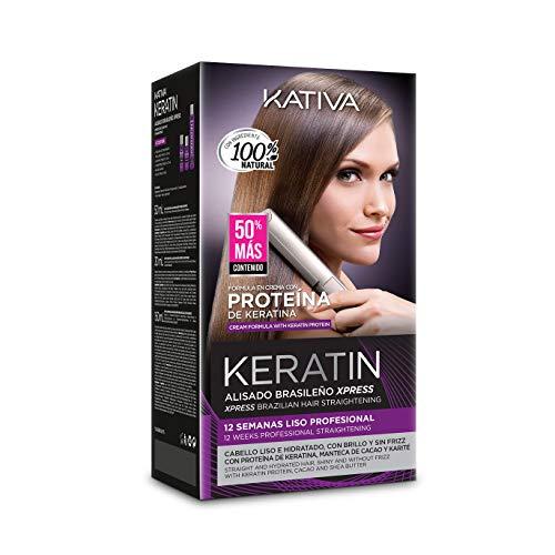 KATIVA Alisado Brasileño de Pelo, Hidratante com Keratina y Aceite de Argán Orgánico