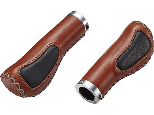 Voxom handgrepen Gr 15 bruin, 130/120 mm, leer gesloten uiteinde, met gel-inzet, 718000012