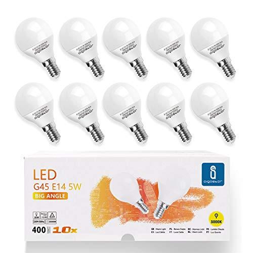 LED Lampe E14 5W Warmweiß 3000K, 400 Lumen, 230 Grad Abstrahlwinkel, Multipack mit 10 Lampen
