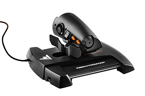 Thrustmaster - TWCS - Mando de Potencia - PC - Tecnología S.M.A.R.T.(Sliding Motion Advanced Rail Tracks): 5 Ejes + 14 Botones + un Hat Switch Point of View de 8 direcciones