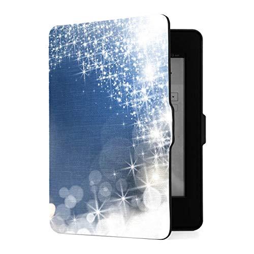Funda para Amazon Kindle Paperwhite 1/2/3 Funda Inteligente de Cuero PU con activación/suspensión automática, Rastro centelleante de Estrella fugaz