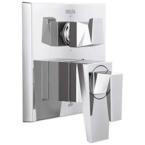 Delta T27943 Trillian Two-Handle Monitor 17 Series Valve 6-Setting Shower Trim with Diverter, Chrome