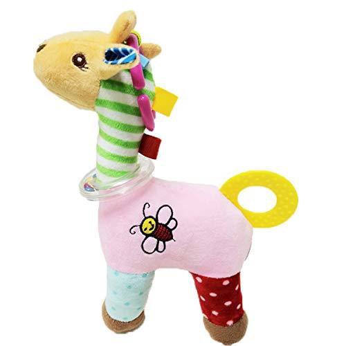 Sonagli per Bambini Giocattoli Massaggiagengive Neonato Giochi da Afferrare Musicale Dentizione Neonati Baby Rattle Toys Plush Stuffed Toys Prima Infanzia 3 6 9 12mesi