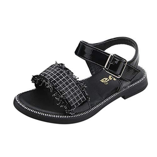 Zylione A20 Kinder mädchen Sommer Strass Plaid Spitze Prinzessin Schuhe einzelne Schuhe Sandalen
