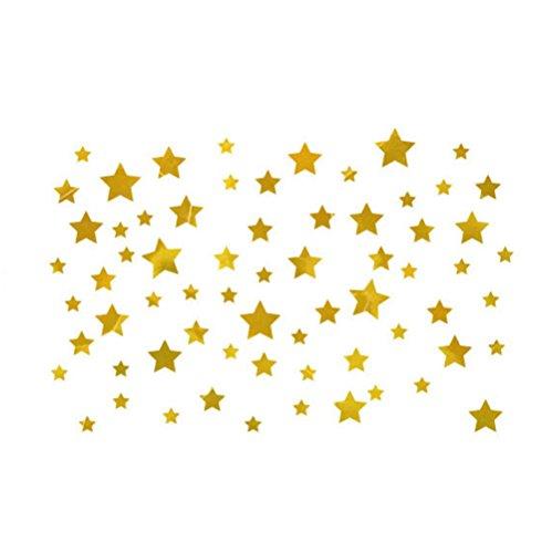 Dosige 1 stuks gouden sterren geborsteld kast voor veranda slaapkamer TV raam glaswand kleuterschool design muursticker kinderkamer 45 x 50 cm