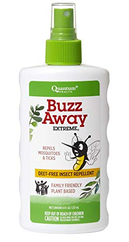 Quantum Health Buzz Away Extreme - DEET-free Insect Repellent, Essential Oil Bug Spray - Small...