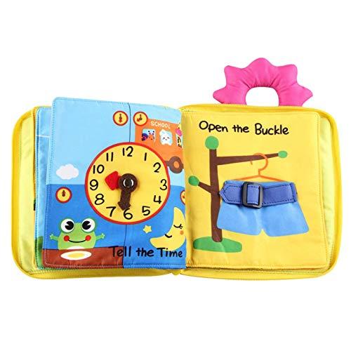 Edcqaz Libro De Tela Suave Para Bebés Desarrollo Temprano Juguetes Interactivos Divertidos Para Juguetes Educativos Para Niños Pequeños