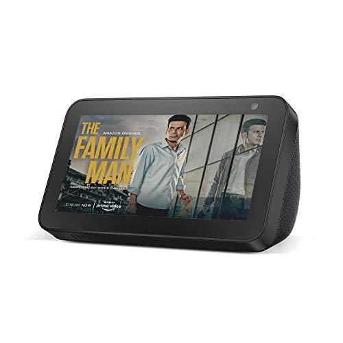 "Introducing Echo Show 5 - Smart display with Alexa - 5.5"" screen & crisp sound (Black)"