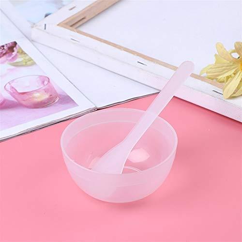 1 Set Maquillage Beauté Maison Bricolage Film en Plastique Bol avec Masque Cuillère Bâton Ensemble Visage Masque Bol (Color : White)