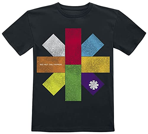 Red Hot Chili Peppers Colour Block Unisex T-Shirt Navy 116