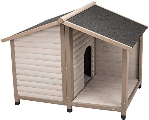 TRIXIE 39517 Natura Hundehütte Lodge Satteldach