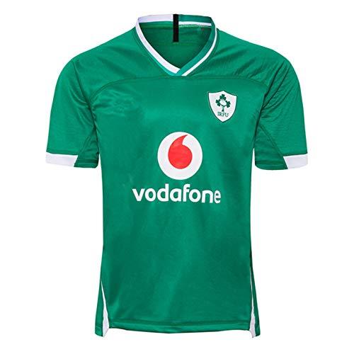 2019 Irish Team Home Fußball Jersey, Sommersport Breathable Casual T-Shirt Fußball-Hemd-Polo-Hemd, Beste Geburtstags-Geschenk L