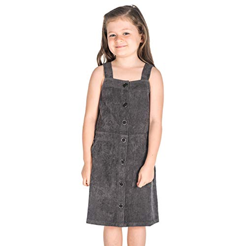 Cherry Crumble California Kids Pinafore Dress Straps/Square Neck Sleeveless Solid...
