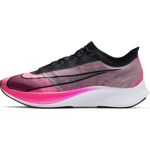 Nike Men's Zoom Fly 3 Running Shoes (10, Pink Blast/Atmosphere Grey/White/Black)