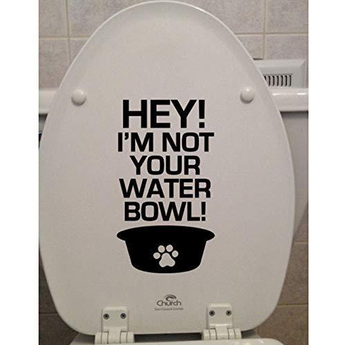 Hallo! Ik Ben Niet Jouw Waterbak! Hond Toiletbril Sticker Badkamer Home Decor Wc Quotes Decals Muur Vinyl Waterdicht Muurschilderingen 17X30Cm