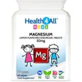 Kids Magnesium Sublingual 60 Tablets for Anxiety, Sleep, Ticks. Vegan Magnesium Citrate